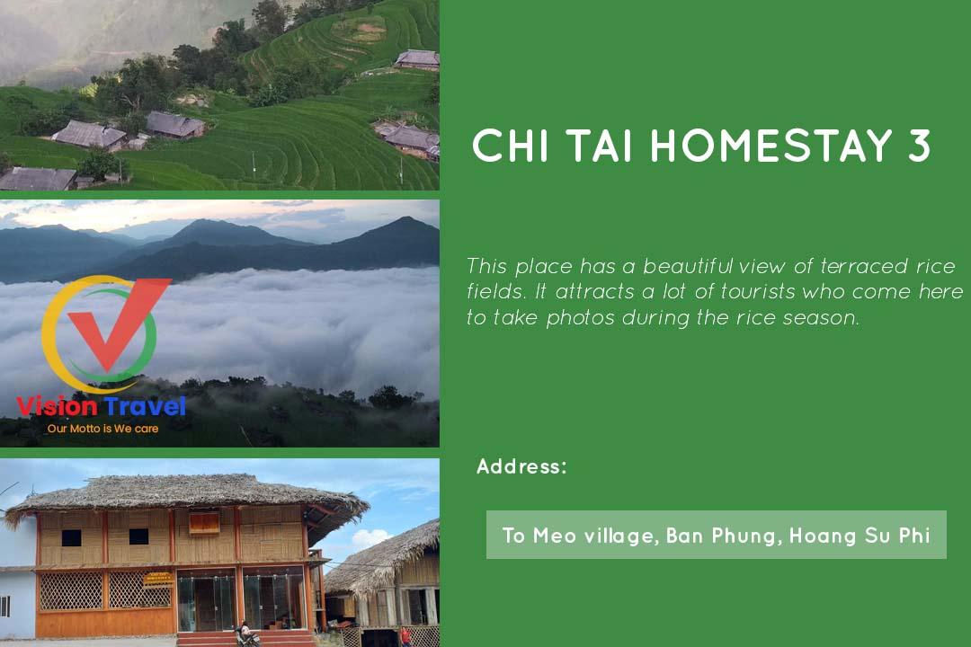 Chi Tai Homestay 3 - Hoang Su Phi homestay