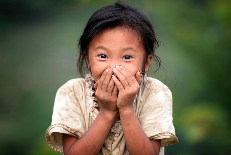 Alittle girl in Hoang Su Phi