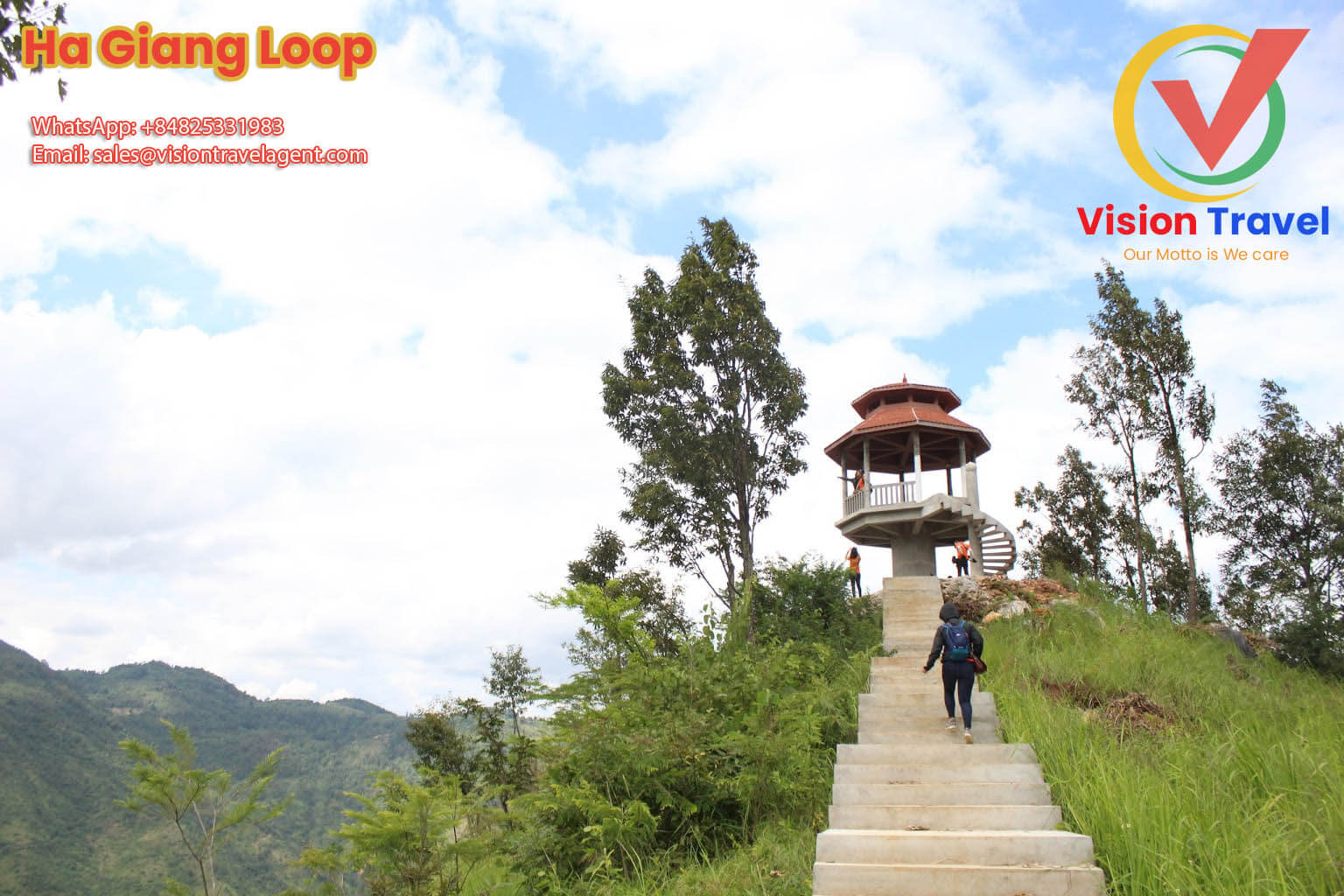 Lung Cu village - Pa Vi village6-day by vehicle Captivating Ha Giang tour (Home stay, Trekking, Market)